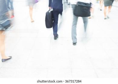 motion blur crowd walking background