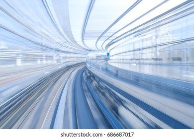 Motion Blur of a High Speed Train