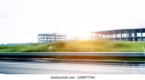 Motion Blur of highway at morning light