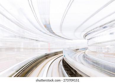 Motion blur of Japanese Railway Tunnel