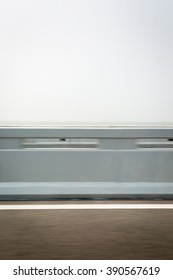 Motion blur of road with sky background