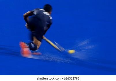 Motion Blur. Sports Hockey