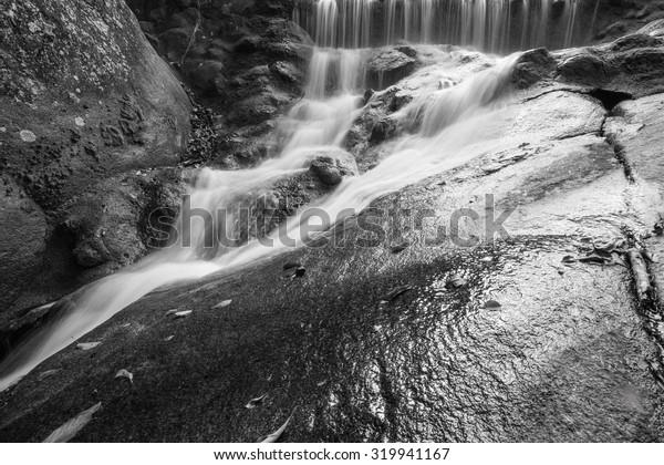 motion blur waterfall black and white art