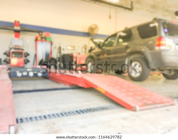 Texas Car Inspection >> Motion Blurred Car Auto Shop Texas Stock Photo Edit Now