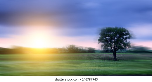 Motion blurred landscape