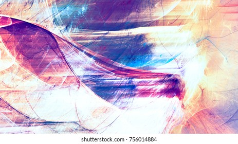 Motion color. Abstract background with lighting effect. Bright futuristic pattern for electronic music fest. Fractal artwork for creative graphic design.