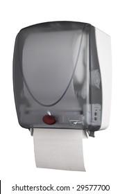 Motion detector towel dispenser in action
