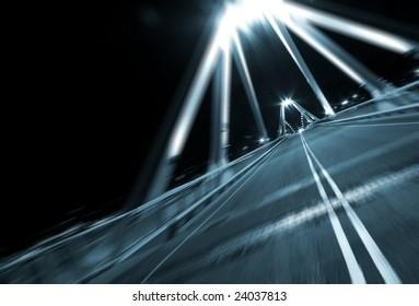 motion fast on bridge