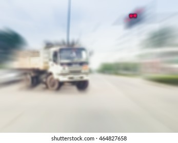 Motion image of accident on the road use for background.