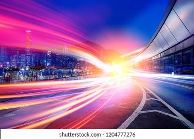 Motion light on City