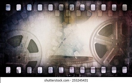 Motion picture film reel with photostrip