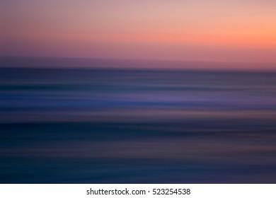Motion pink and purple  beach sunset