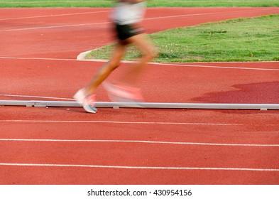 motion in running track