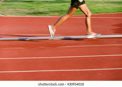 motion in running track, step by step