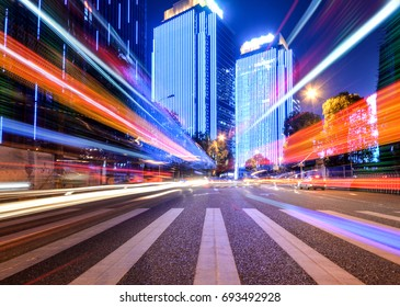 Motion speed effect with City Night