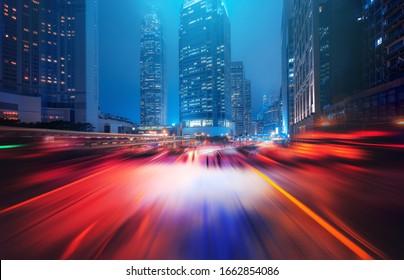 Geschwindigkeitseffekt in Hongkong City