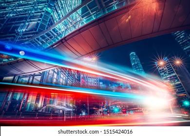 Geschwindigkeitseffekt in der modernen Stadtstraße