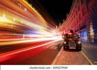 Motion speed light effect in London city