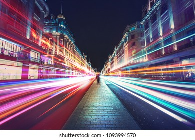 Motion Speed Light in London City