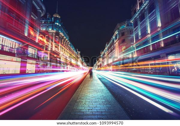 Motion Speed Light in London City