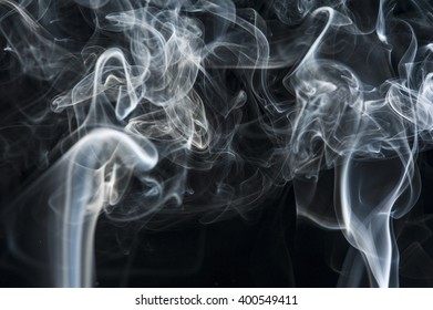 Motion of white smoke, smoky background