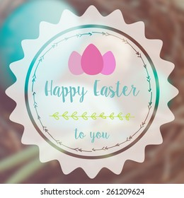 Motivating easter poster card illustration