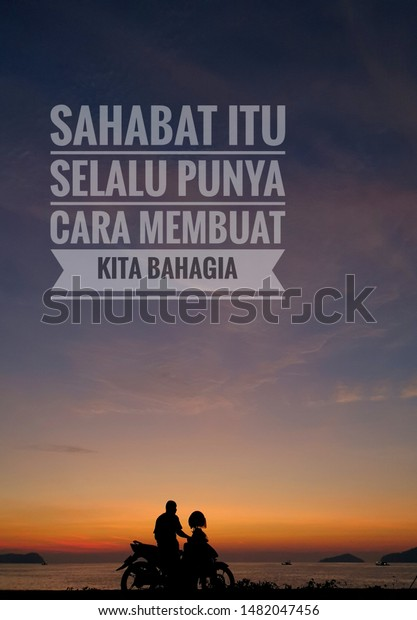 motivation inspirational quotes written malay language stock photo