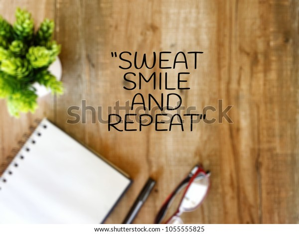 motivation quotes sweet smile repeat stock photo edit now