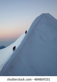 Motivation, Teamwork and Leadership  - Mountaineering Rope Teams close to summit