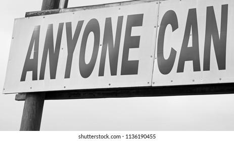 Motivational Billboard Sign