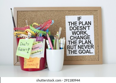 Motivational Business Background / If the plan does not work change the plan but never the goal.