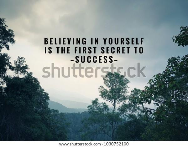 Motywacyjne I Inspirujące Cytaty Wiara Zdjęcie Stockowe