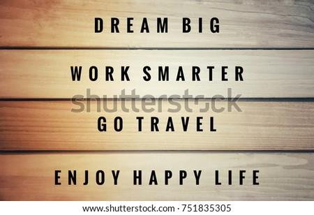 Motivational Inspirational Quotes Dream Big Work Stock Photo Edit
