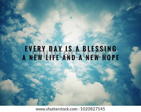 Motivational Inspirational Quotes Every Day Blessing Stock Photo Custom Motivational Life Quotes Of The Day