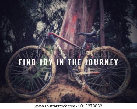 Motivational Inspirational Quotes Find Joy Journey Stock Photo Edit