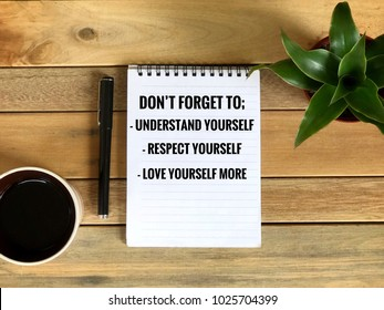 Motivational Inspirational Quotes Understand Yourself Respect Stock