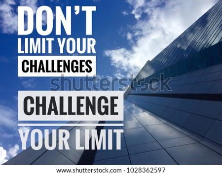 Motivational Inspirational Quotes Limit Your Challenges Stock Photo Mesmerizing Inspirational Quotes About Challenges