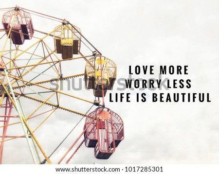 Motivational Inspirational Quotes Love More Worry Stock Photo Edit