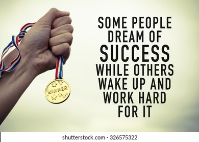 Motivational Quote Poster About Success