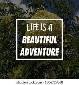 Life is a Beautiful Adventure Quotes Images, Stock Photos