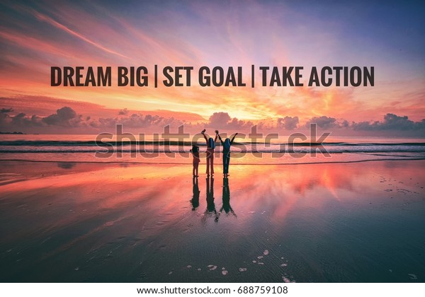 Motivational Quotes Background Three Kids Standing Stock ...