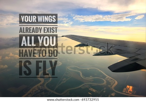 motivational quotes background view plane wings backgrounds