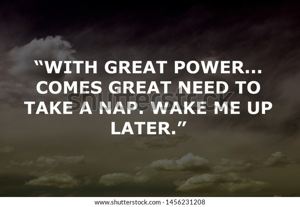 motivational quotes design great power comes stock photo edit now