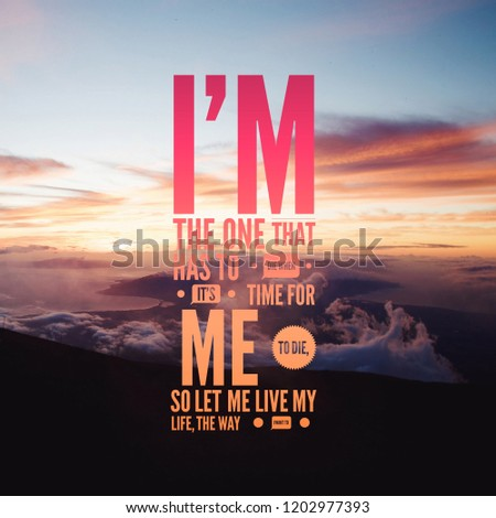 Motivational Quotes Life One That Has Stock Photo Edit Now
