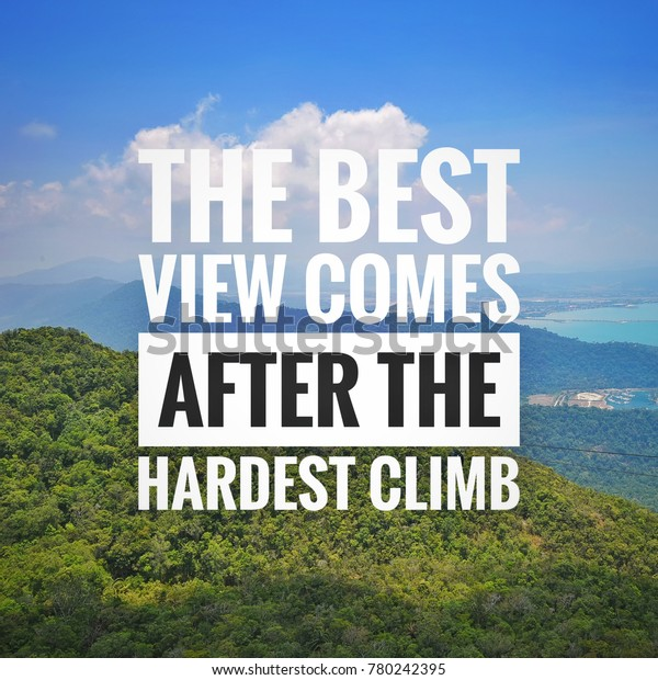 motivational quotes on blue sky mountain royalty stock image