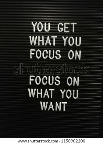 Motivational Quotes On Focus Stock Photo (Edit Now) 1150902200
