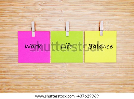 Motivational Quotes Work Life Balance Stock Photo Edit Now