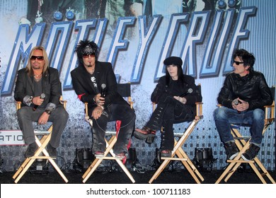 Motley Crue at the KISS & Motley Crue Press Conference, Roosevelt Hotel, Hollywood, CA 03-20-12