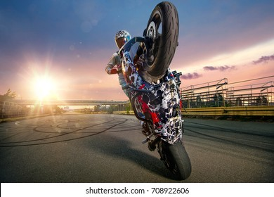 motorcycle stunt images stock photos vectors shutterstock