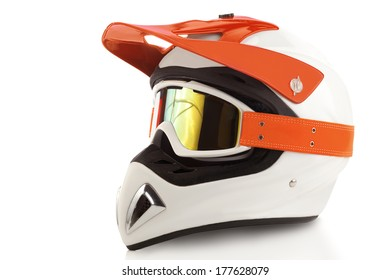 Motocross bike helmet